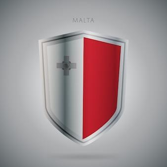 Serie de banderas de europa icono de malta.