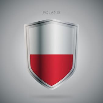 Serie de banderas de europa icono de polonia.