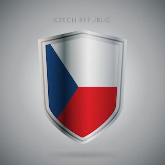 Serie de banderas de europa icono de la república checa