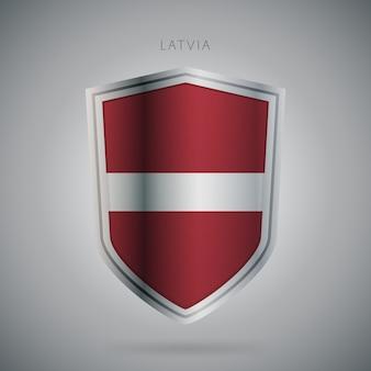 Serie de banderas de europa letonia icono moderno.