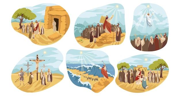 Serie religiosa bíblica del antiguo y nuevo testamento de jesús