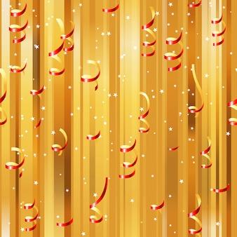 Serpentinas de papel rojo de trama de fondo