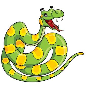 Serpiente de dibujos animados