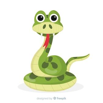 Serpiente en diseño plano