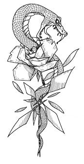 Serpiente y flor