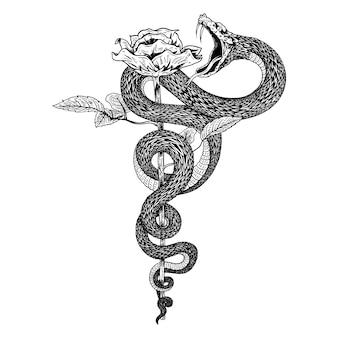 Serpiente de flores