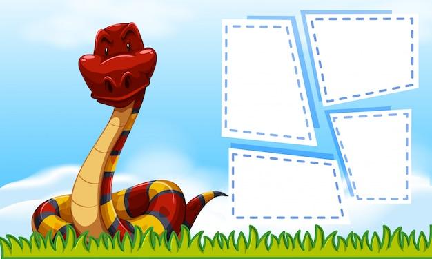 Serpiente en plantilla marco
