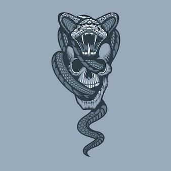 Serpiente a través del cráneo