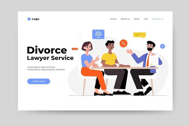 Servicio de abogado de divorcio - página de inicio