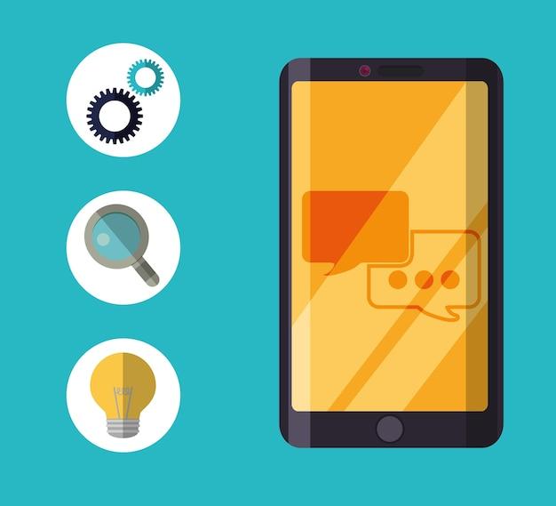Servicio al cliente conjunto de iconos de servicio técnico.
