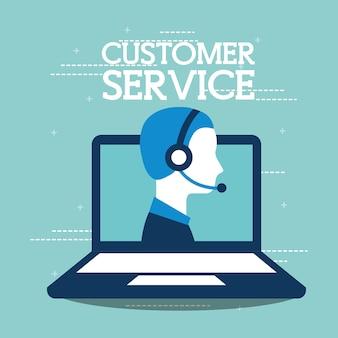 Servicio al cliente soporte de agente portátil en línea