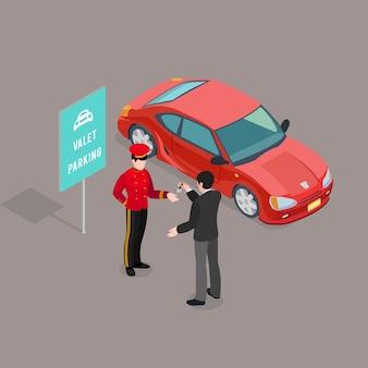 Servicio de aparcacoches composición