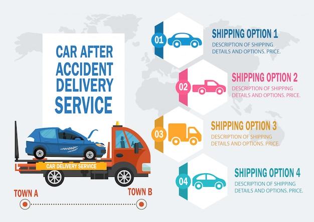 Servicio de asistencia al automóvil. vector ilustración plana