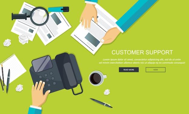 Servicio de atención al cliente de negocios.
