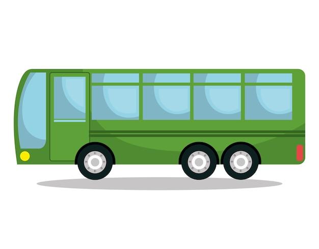 Servicio de autobús público icono aislado diseño