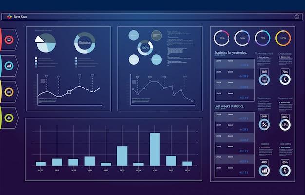 Servicio de automóviles futurista, escaneo y análisis automático de datos. banner de coche inteligente. coche inteligente isométrica futurista e íconos con beneficios de máquina. ilustración