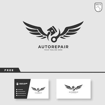 Servicio de autos vector logo design