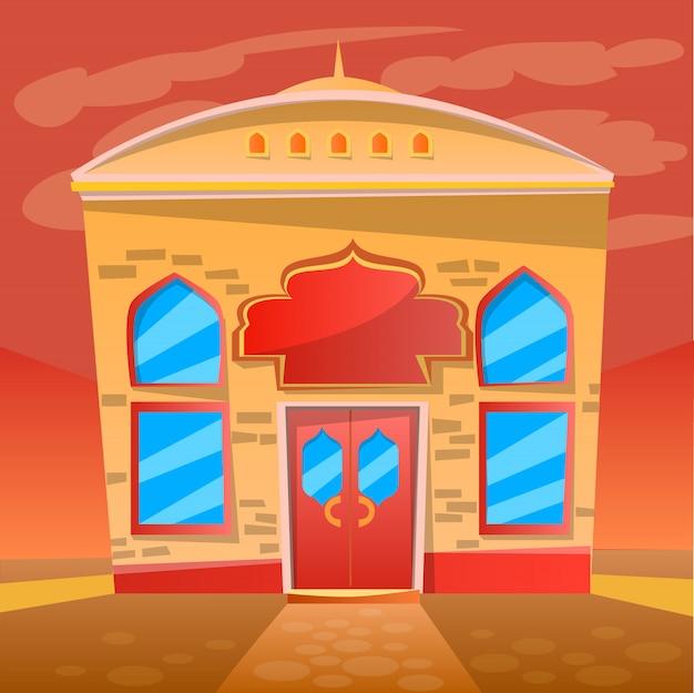 Servicio de cafetería restaurante indio, exterior del restaurante