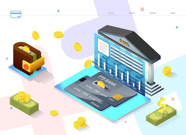 Servicio de cartel publicitario rentable piggy bank.
