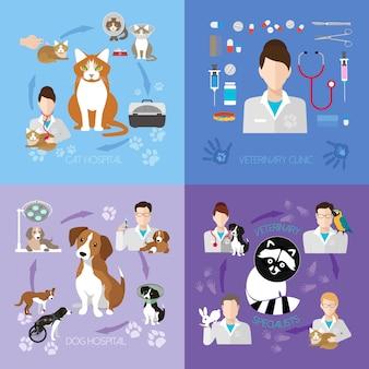 Servicio de clínica veterinaria.