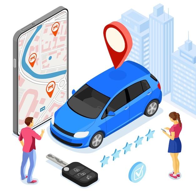 Servicio de coche compartido online