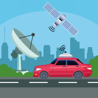 Servicio de coche de localización gps