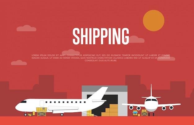 Servicio comercial de envío aéreo