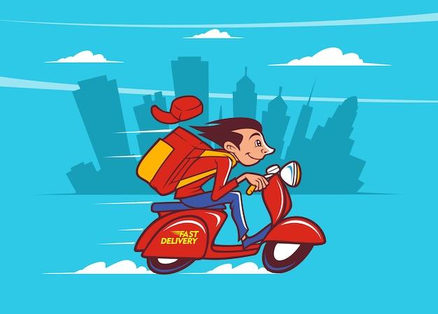 Servicio a domicilio en scooter