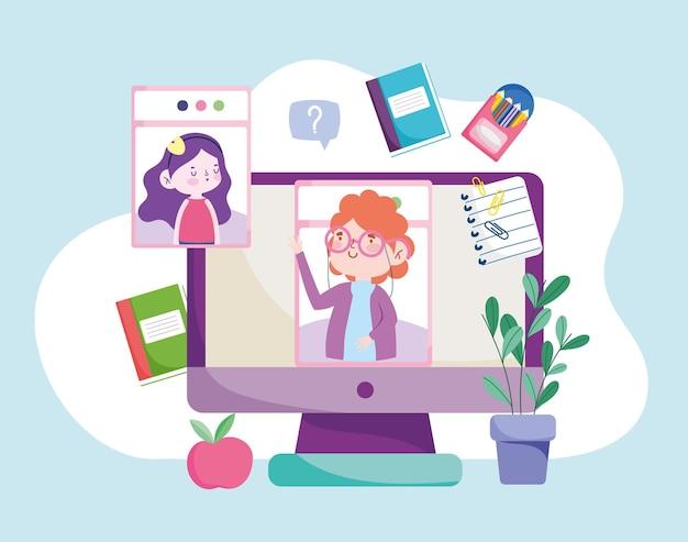 Servicio de educación en línea