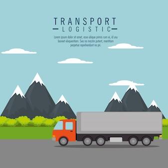 Servicio de entrega de camiones aislado