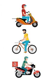 Servicio de entrega de dibujos animados.