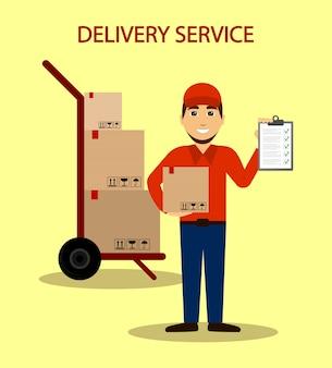 Servicio de entrega. entrega de mensajería a su domicilio.