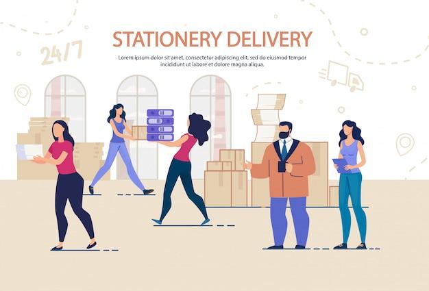 Servicio de entrega estacionaria y mudanza