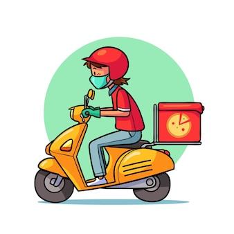 Servicio de entrega ilustrado