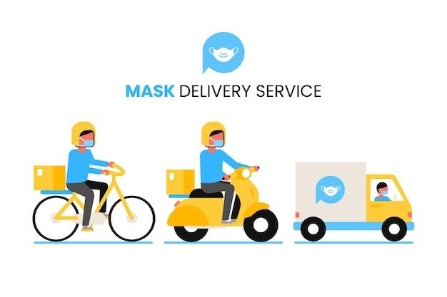 Servicio de entrega de mascarillas