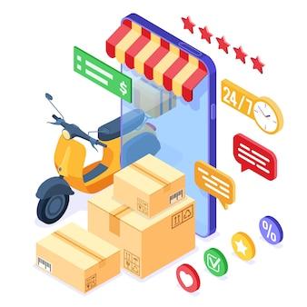 Servicio de entrega de paquetes de pedidos en línea