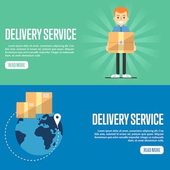 Servicio de entrega de plantillas de banner de sitio web horizontal