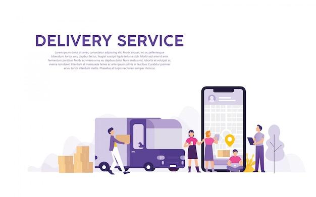 Servicio de entrega con seguimiento de pedidos en línea