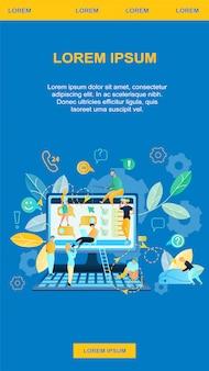 Servicio de ilustración en línea de compras en internet