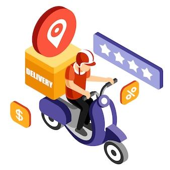 Servicio isométrico de entrega de bicicletas