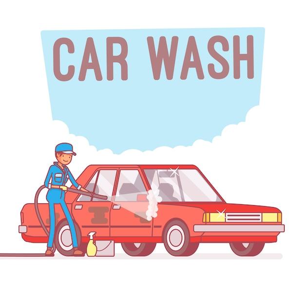 Servicio de lavado de autos