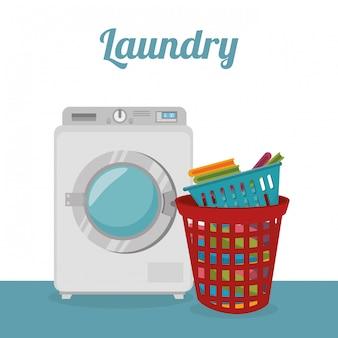 Servicio de lavandería máquina de lavado