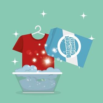 Servicio de lavandería set de productos