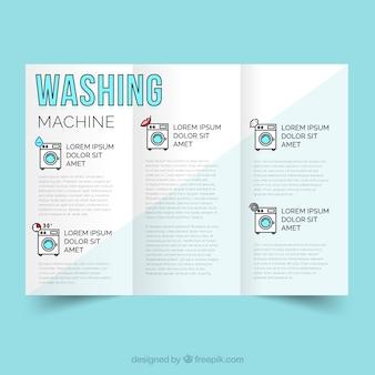 Servicio de limpieza en lavadora vector