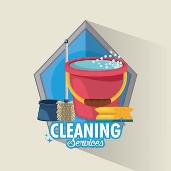 Servicio de limpieza y limpieza.