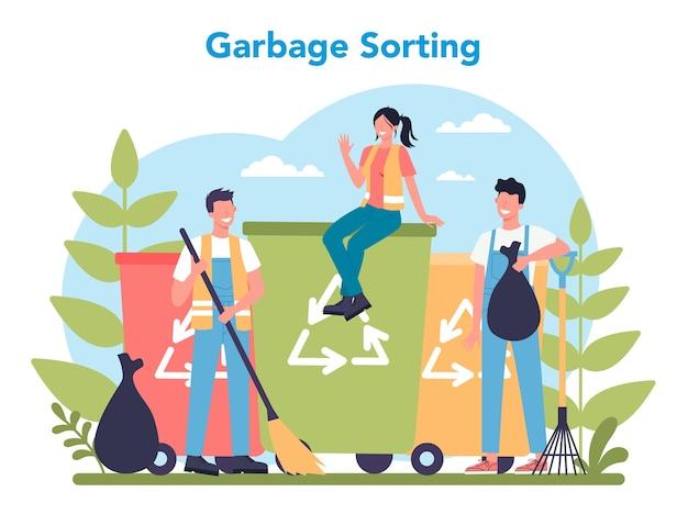 Servicio de limpieza o concepto de empresa.