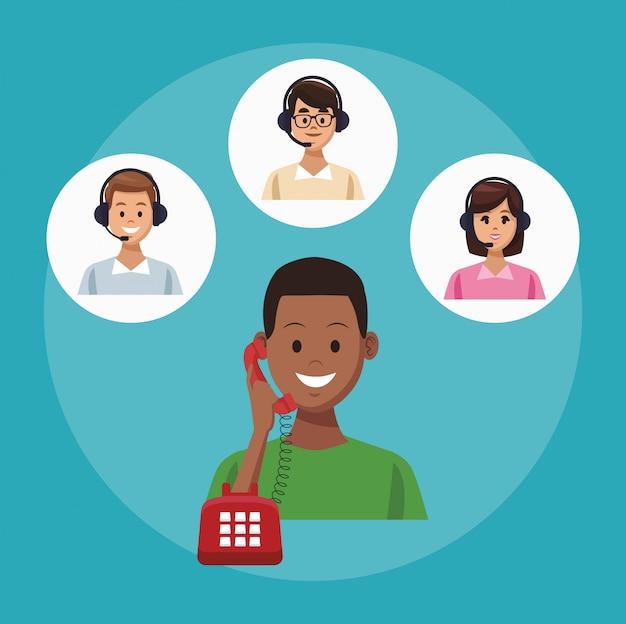 Servicio de línea de centro de llamadas