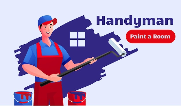 Servicio de manitas pintando casas