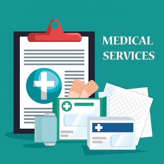 Servicio médico establecer iconos