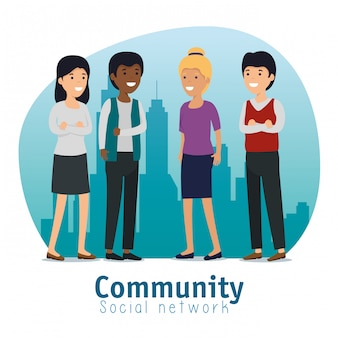 Servicio de mensajes sociales de personas de la comunidad